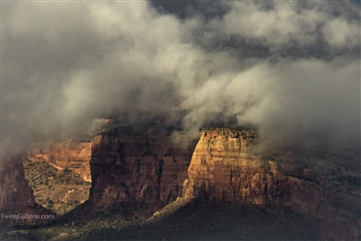 Black Canyon of the Gunnison National Park Photography Print: Clouds over the Canyon at the Grand Junction