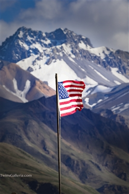 American Flag Denali Park Entrance