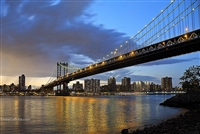 NYC Fine Art Photography Print of Manhattan Bridge at Sunset