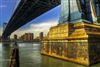 NYC Fine Art Photography Print of Brooklyn Bridge Under Belly