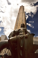 NYC Photography Print of Woman's Statue in Rockefeller Plaza