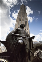 NYC Art Photography Print of Male Statue in Rockefeller Plaza
