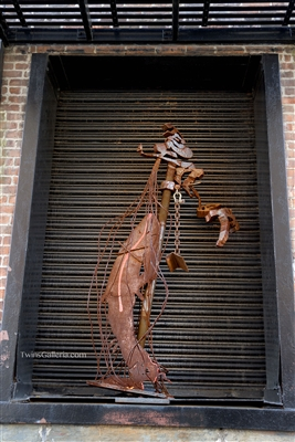 NYC Fine Art Photography Print of Eclectic Brooklyn Window Statue