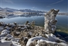 Mono Lake Tufa up Front Snow on it