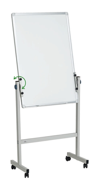 Mobile Whiteboard with Double-Sided Magnetic Surface - 2 x 3' (feet)