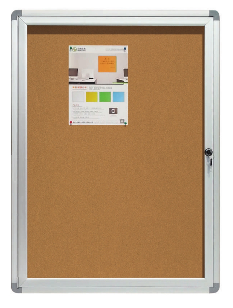 Enclosed Bulletin Board With Cork Surface And Aluminum Frame 2 X 3 Feet