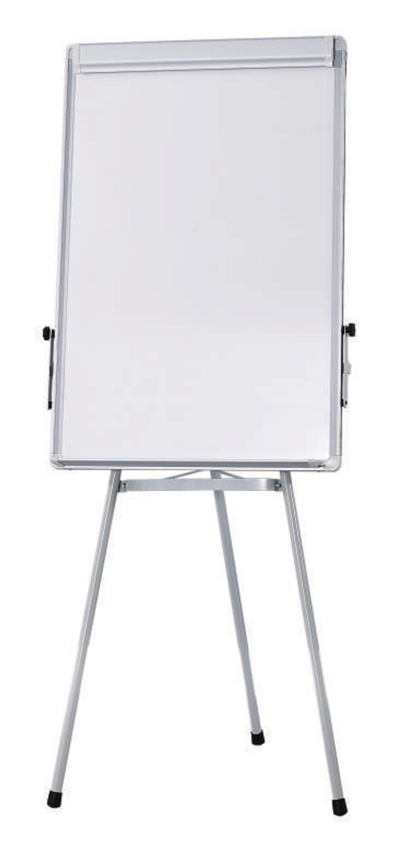 Flip Chart Easel With Whiteboard Magnetic Surface Tripod Stand 2 X 3