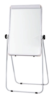 Flip Chart Easel with Double-Sided Whiteboard Magnetic Surface (folding leg stand) - 2 x 3' (feet)