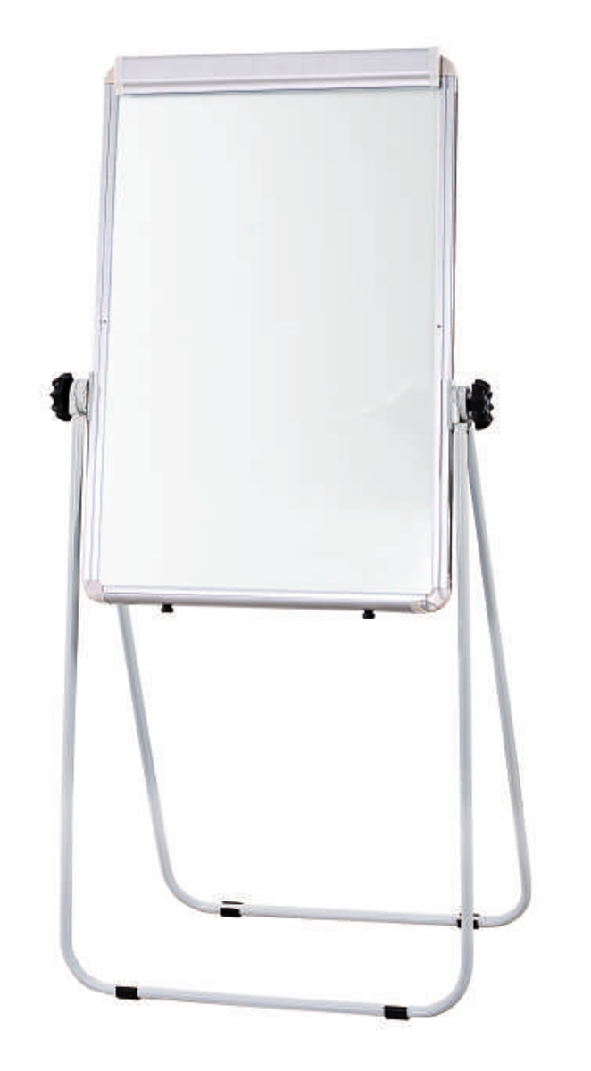 Flip Chart Easel With Double Sided Whiteboard Magnetic Surface Folding Leg Stand