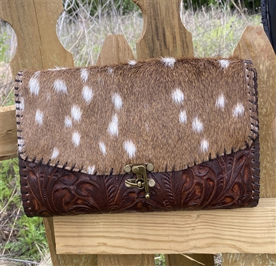 Axis Hand Tooled Crossbody/Clutch