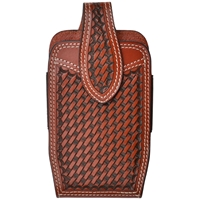 Basket weave phone holster