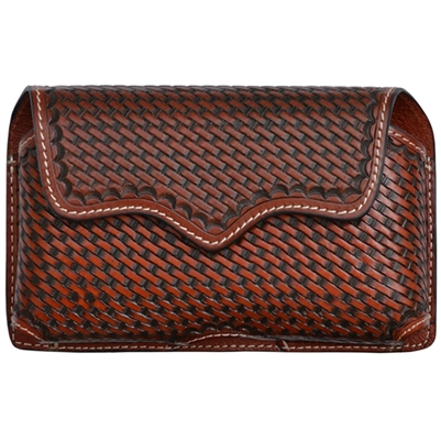 Horizontal basket weave phone holster