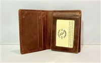 Oil Tanned Slim Flip Out Bi-Fold