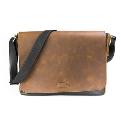 Oil Tanned Rustic Messenger Bag