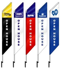 Build Your Own Custom Feather Flags! - Special Group Promo! - Save 25 - 30% off single purchase price - PVC Yard Sails - Two Panel - Most Major Real Estate Logos Available! - Group Rates - Save Big 6, 12 & 24 Qtys.