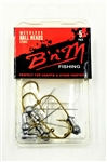B 'n' M Unpainted Ball Head Jigs w/ Weedless Hook (T3-28)