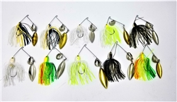 Lost Loot Pack of 10 Pro Select Spinner Baits (T3-25)