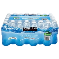 Kirkland Purified Drinking Water, 16.9 oz, 40 ct