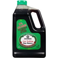 Kikkoman Less Sodium Soy Sauce  40 Oz