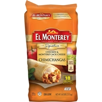 El Monterey Signature Chimichangas, Chicken & Cheese, 5 oz, 18 ct