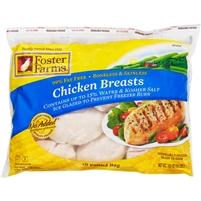 Foster Farms Chicken Breasts, Boneless Skinless, 10 lbs