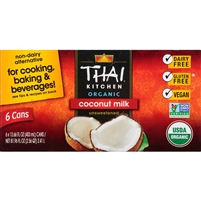 Thai Kitchen Organic Coconut Milk, Unsweetened, 13.66 oz, 6 ct