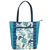 BLUE & GREEN TAPESTRY TOTE BAG & UMBRELLA SET