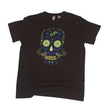 black Aina Clothing organic cotton sugar skull t-shirt