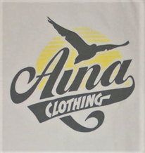 Aina Clothing white organic cotton tshirt with flying gull