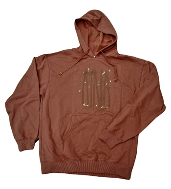 Aina brown organic cotton In the Trees Hoodie sweatshirt