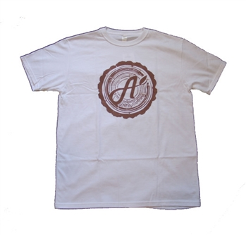 Aina Clothing white organic cotton cross cut t-shirt
