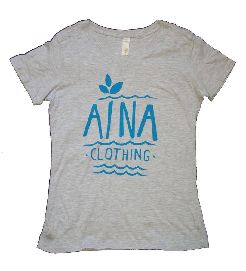 4eef9f504ec Aina Women s Atlantic V-Neck Organic Cotton T-Shirt