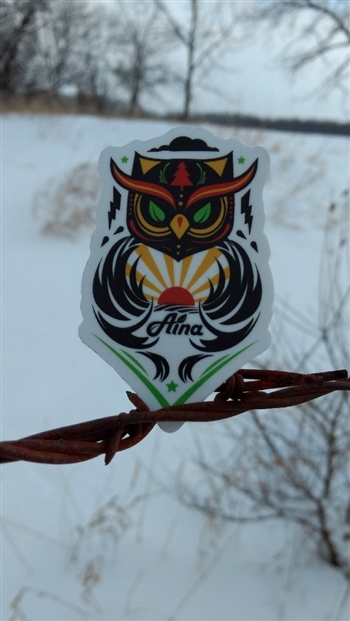 Aina Clothing Owl Sticker
