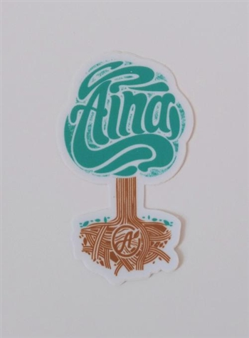 Aina Clothing Roots Die Cut Sticker