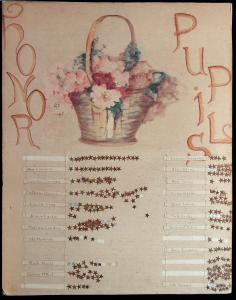 A Water Color Chart for honor pupils c1910.