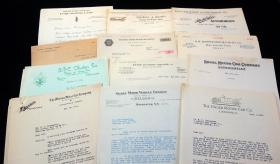 A group of 33 Correspondence from Various Automobile  Manufactures to an Albany, NY area Auto Distributor/Dealer, all from 1914-1915. ..