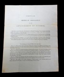 Circular, American Association for the Advancement of Science Meeting Invite. .Cambridge, MA.1849