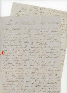 Dr. Bulter Wilmarth  A Letter between Two Doctors about working together at a Sanitarium and the Use of Homeopathic Medicines. .Lowell, MA.September 26, 1849