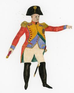 Charming Naive Watercolor Napoleon. ..