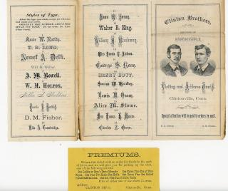 Clinton Brothers printers of Fashionable Visiting and Address Cards