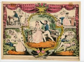 Cupid's Bower Hand-colored Advertisement. ..