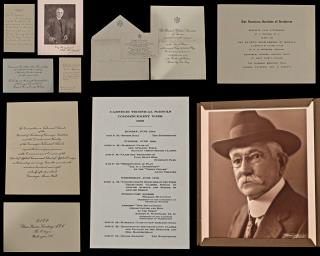Robert Simpson Woodward (1849-1924) A Social Archive of Invites, Photographs and other Materials of Robert Simpson Woodward. .Washington, DC.c1905-1908