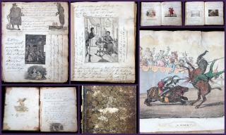 Musings, Verse and Sentiment by an Unidentified Gentlemen Embellished with Whimsical Illustration Snippets. 1825. ..