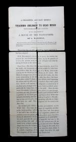 L Wardell A Delightful and Easy Method for Teaching Children to Read Music with extraordinary facility, by the arrangement of a house on the piano-forte. ..1857