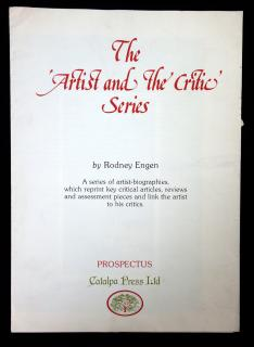The 'Artist and the Critic' Series Plan and Description Prospectus. Catalpa Press, Ltd..Gloucestershire, England.n.d.