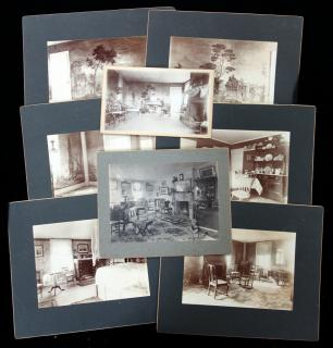Eight (8) Mounted Photographs of the Phineas Bemis House in Dudley, MA, 1805-2005. .MA.c. 1880