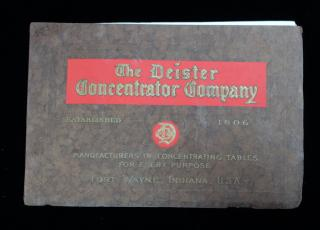 The Deister Concentrator Company: Manufactures of Concentrating Tables for Every Purpose
