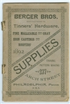 Berger Bros - Hardware anbd Supplies 1892