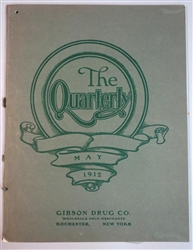 The Quarterly - Gibson Drug Co.Catalogue- 1912 with Color Illustrations Carter's Inks & Glues & Much More