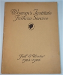 Woman's Institute Fashion Service - Fall & Winter 1923 - 1924